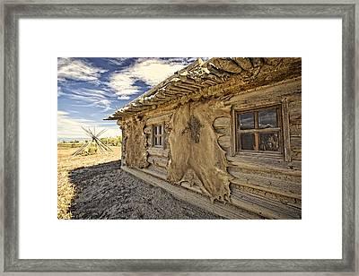 Buffalo Hide On Trading Post Colorado Framed Print