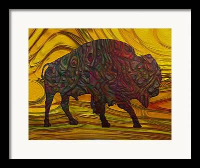 Buffalo Extinction Paintings Framed Prints