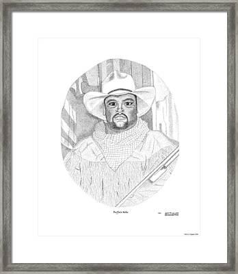 Buffalo Mike Framed Print by Arthur Eggers