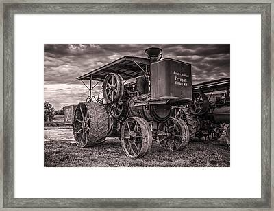 Buffalo Pitts Steam Traction Engine Framed Print