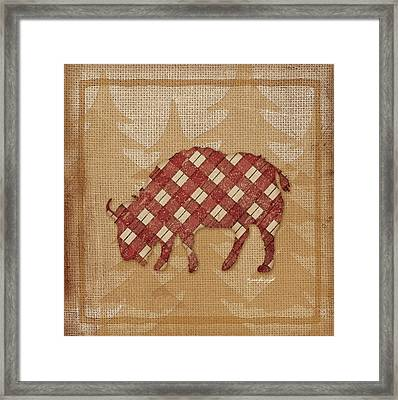 Buffalo Plaid Framed Print by Jennifer Pugh