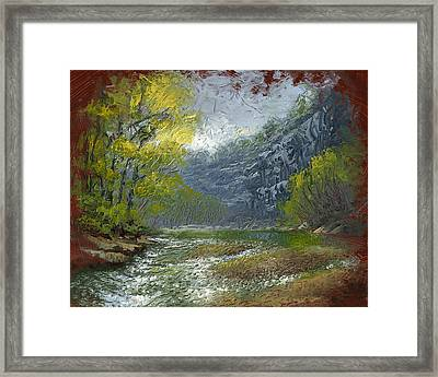 Buffalo River Bluff Framed Print by Timothy Jones