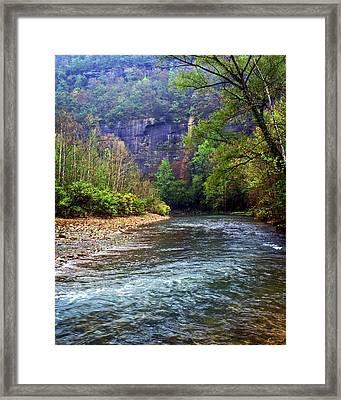 Buffalo River Downstream Framed Print by Marty Koch