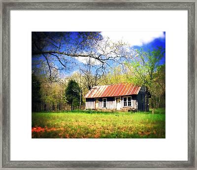 Buffalo River Homestead Framed Print by Marty Koch