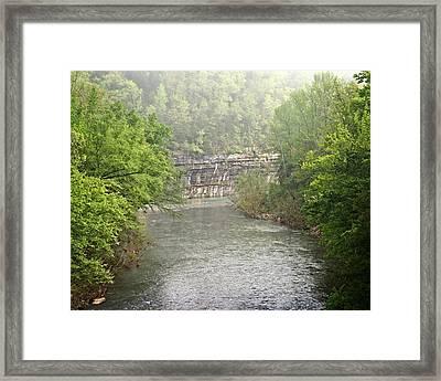 Buffalo River Mist Horizontal Framed Print by Marty Koch