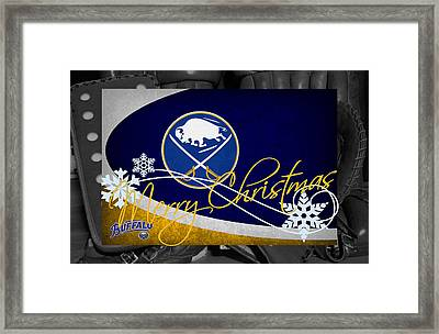 Buffalo Sabres Christmas Framed Print by Joe Hamilton