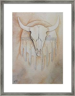 Buffalo Shield Framed Print