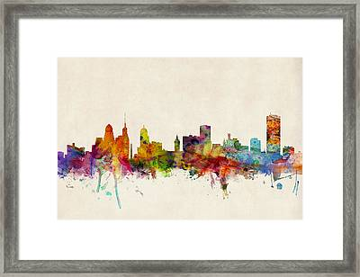 Buffalo Skyline Framed Print by Michael Tompsett