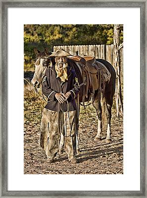 Buffalo Soldier Framed Print