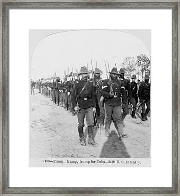 Buffalo Soldiers Of The 24th U.s Framed Print