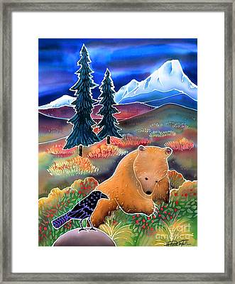 Buffaloberries In Autumn Framed Print by Harriet Peck Taylor