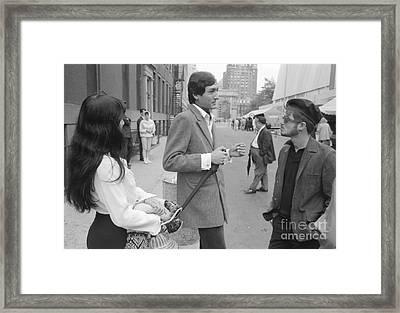 Buffy Sainte-marie At Washington Square Park 1964 Framed Print