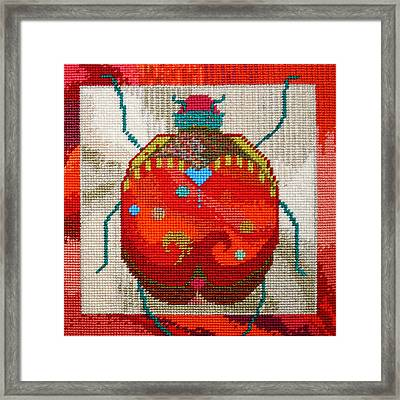 Bug Framed Print by Connie Pickering Stover