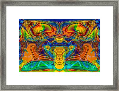 Bug Eyed Monster Framed Print
