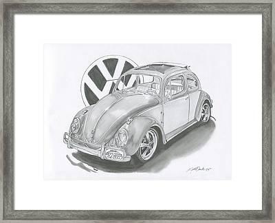 Bug Framed Print by Raquel Ventura