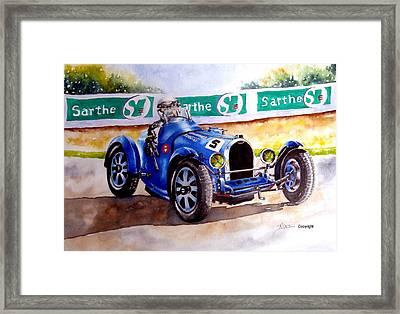 Bugatti 35b Framed Print by Anne Dalton