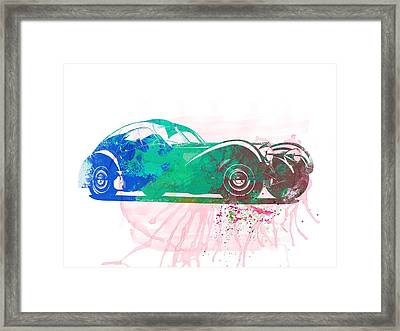 Bugatti Atlantic Watercolor 1 Framed Print by Naxart Studio
