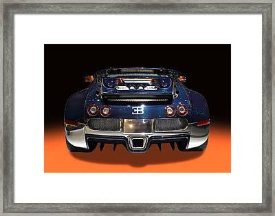Bugatti Luxury Sport Car Back View Framed Print