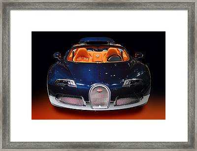 Bugatti Luxury Sport Car Framed Print by Radoslav Nedelchev