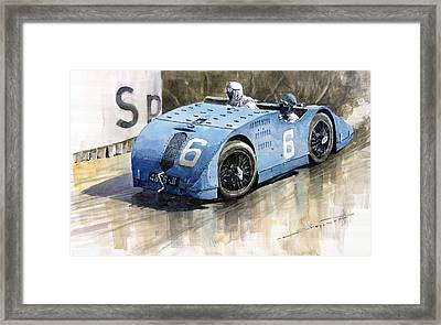 Bugatti Type 32 Tank 1923 French Gp  Framed Print by Yuriy  Shevchuk