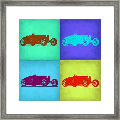 Bugatti Type 35 R Pop Art 1 Framed Print by Naxart Studio