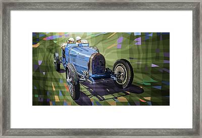 Bugatti Type 35 Framed Print