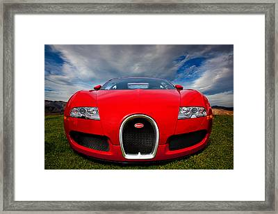 Bugatti Veyron Framed Print by Peter Tellone