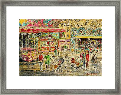 Buggies On Annual Fair Framed Print