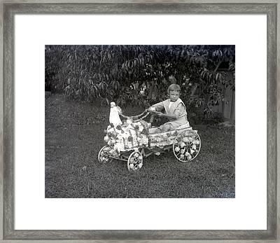 Buggy Boy Framed Print by William Haggart