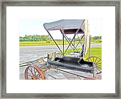 Buggy By The Road Framed Print by Eloise Schneider