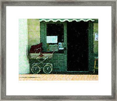 Buggy In The Shade Framed Print by Florene Welebny
