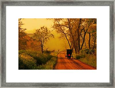 Buggy On A Sunday Morning Drive Batik Framed Print by Laura James