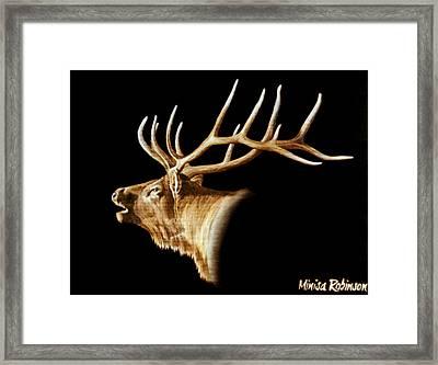 Bugle Framed Print by Minisa Robinson