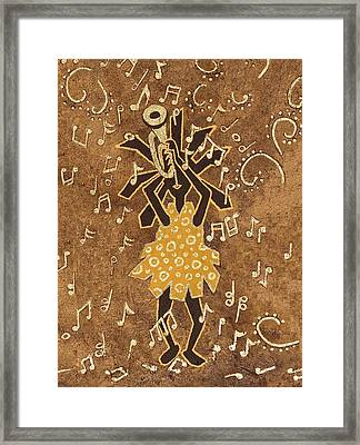 Bugle Player Framed Print by Katherine Young-Beck