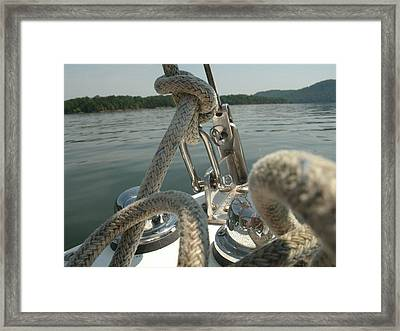 Bug's Eye View Of Cave Run Lake Framed Print by Amy Manley