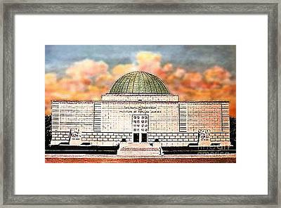 Buhl Planetarium Theatre In Pittsburgh Pa Around 1940 Framed Print by Dwight Goss