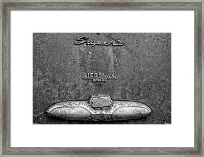 Buick Dynaflow In Black And White Framed Print by Greg Mimbs