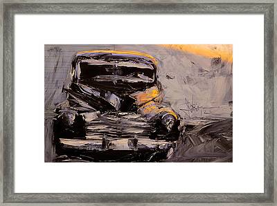 Framed Print featuring the digital art Buick Eight by Jim Vance
