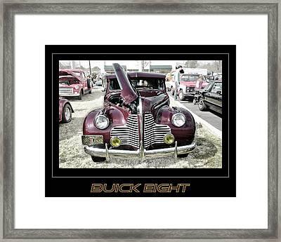 Buick Eight Retro Framed Print by Davina Washington