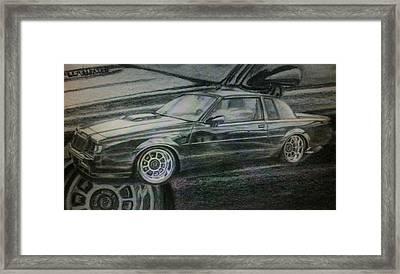 Buick Grand National Framed Print by Frankie Thorpe