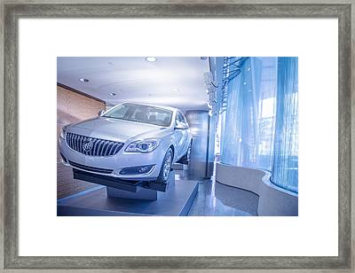 Buick In Renaissance Center Framed Print
