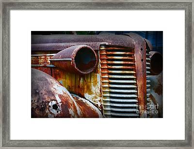 Buick Rust Framed Print