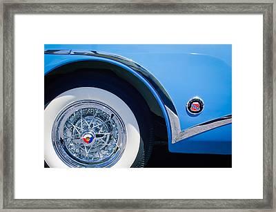 Buick Skylard Wheel Emblem Framed Print by Jill Reger