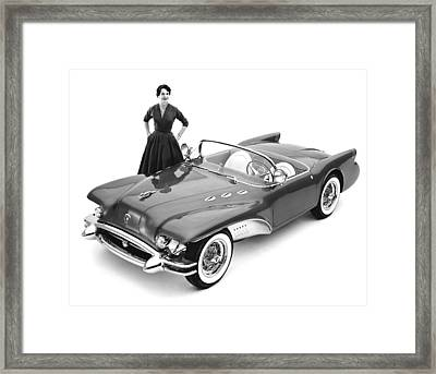 Buick Wildcat II Concept Car Framed Print by Underwood Archives