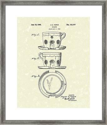 Building 1940 Patent Art Framed Print by Prior Art Design