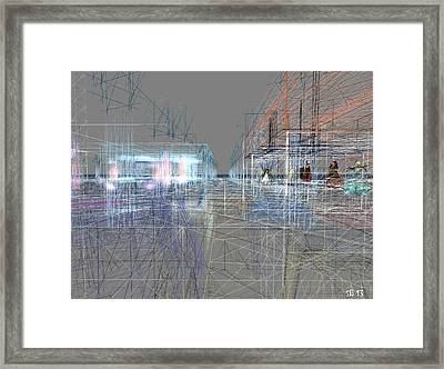 Framed Print featuring the digital art Building A City by Susanne Baumann