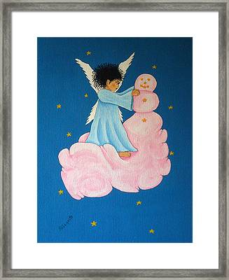 Building A Cloudman Framed Print by Pamela Allegretto