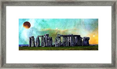 Building A Mystery 2 - Stonehenge Art By Sharon Cummings Framed Print
