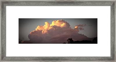 Building A Tempest Framed Print