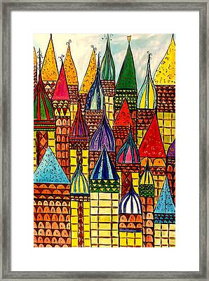 Building A Village Framed Print by Lisa Aerts